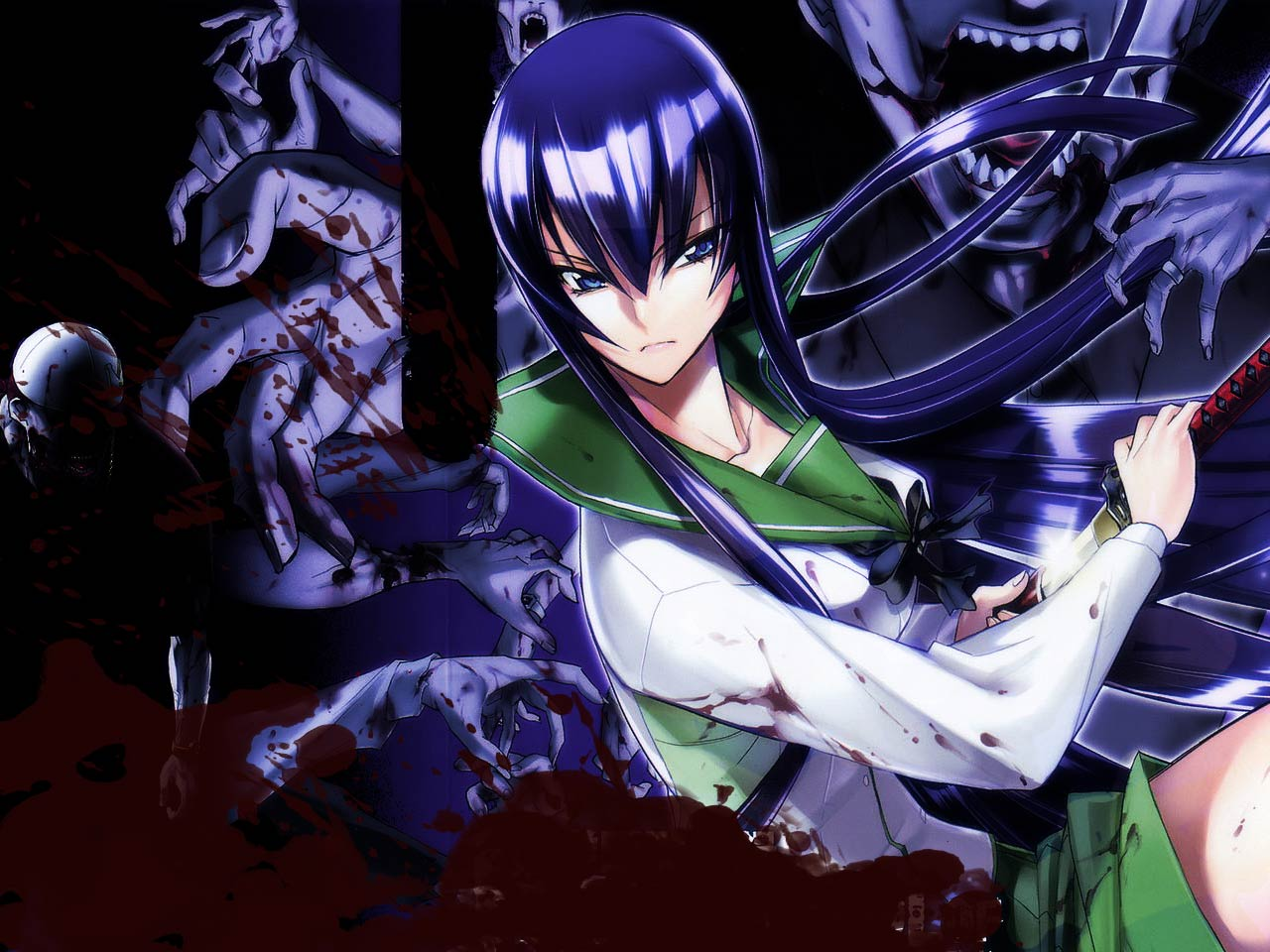 "Console.Writeline(""HighSchool of the Dead Wallpapers ..."