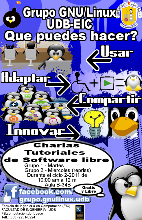 Baner Linux Universidad Don bosco
