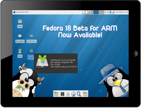 fedora 18 beta ARM